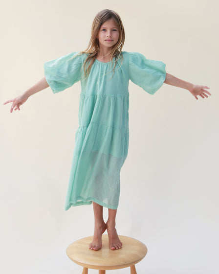 SPRING DRESS - TURQUOISE