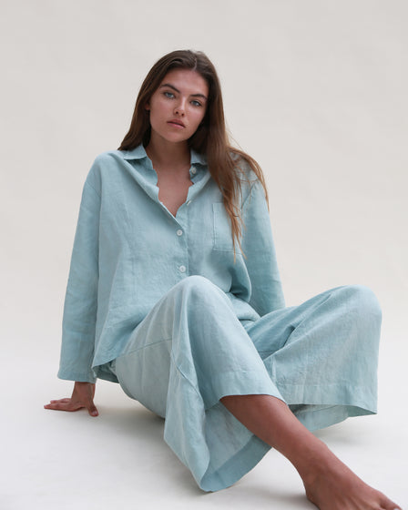 LONG-SLEEVE WITH PANT LOUNGE SET - OCEAN