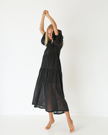 WOMENS SPRING DRESS - BLACK