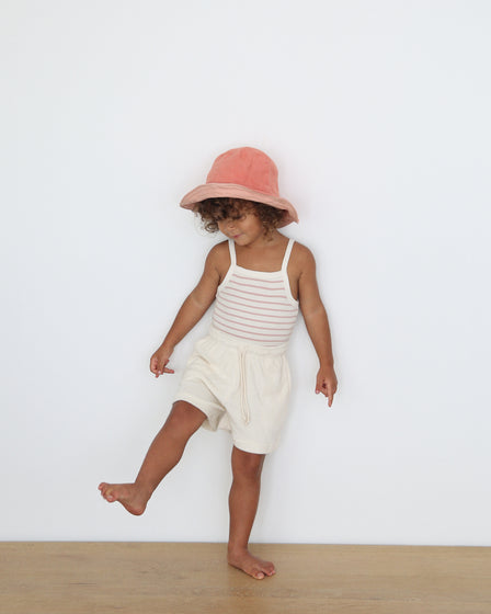 BABY TERRY LONG SHORTS - NATURAL