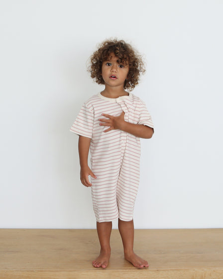 JUMPSUIT - ROSE STRIPE