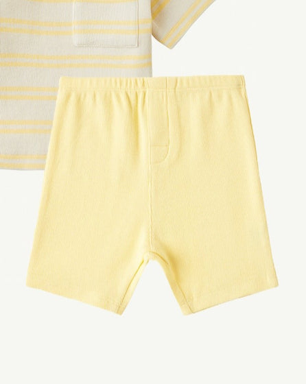 BABY TEE AND SHORTS SET - YELLOW