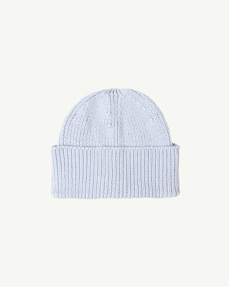 COTTON BEANIE - POWDER BLUE