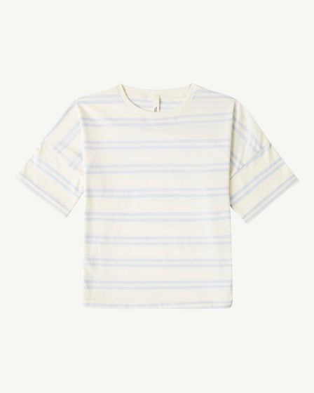 OVERSIZED TEE - DOUBLE STRIPE POWDER BLUE