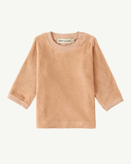 TERRY LONG SLEEVE TOP - DUSTY ROSE