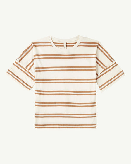 OVERSIZED TEE - DOUBLE STRIPE TAN
