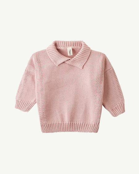 COLLARED KNIT - ROSE