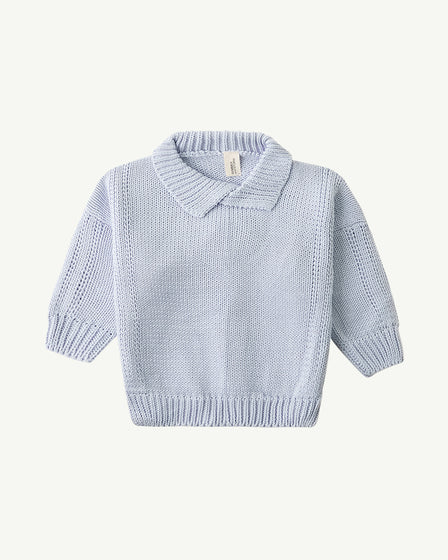 COLLARED KNIT - BABY BLUE