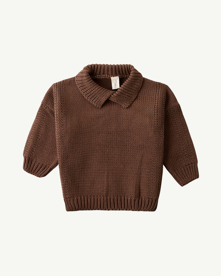 COLLARED KNIT - CHOCOLATE
