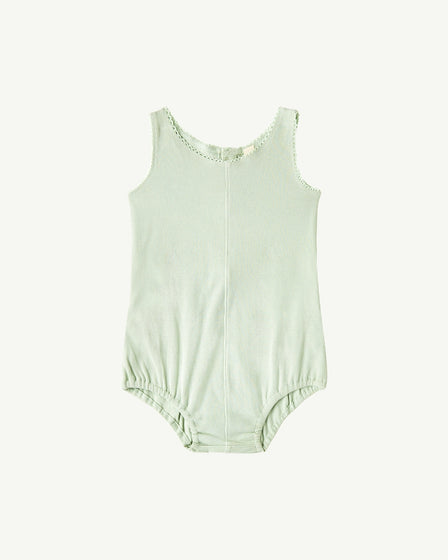 BUTTON ONESIE - SOFT AQUA