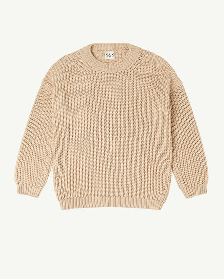 WOMENS CHUNKY PULLOVER - NATURAL
