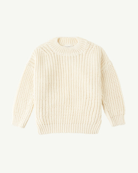 CHUNKY PULLOVER - SNOW