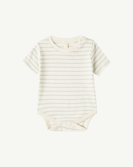 SHORT-SLEEVE BODY - SOFT AQUA STRIPE