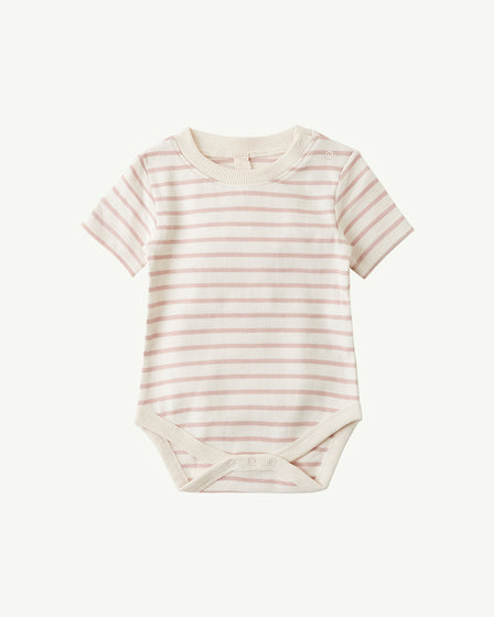SHORT-SLEEVE BODY - ROSE STRIPE
