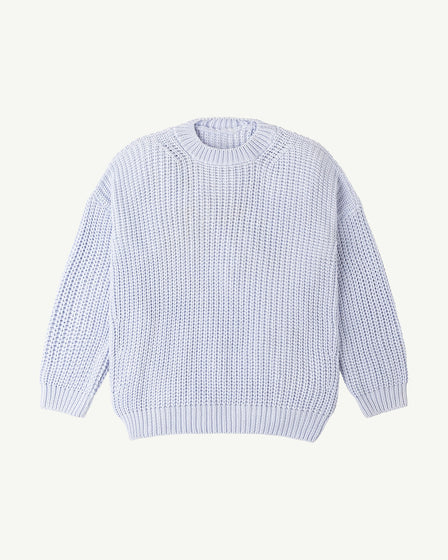 CHUNKY PULLOVER - POWDER BLUE