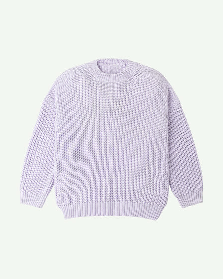 CHUNKY PULLOVER - LAVENDER