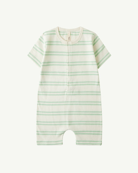 JUMPSUIT - PASTEL GREEN STRIPE