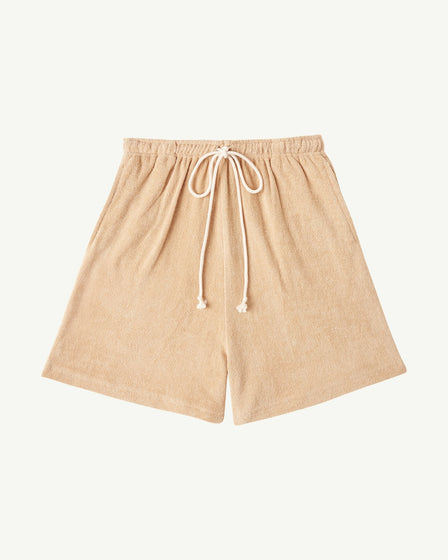 BABY TERRY LONG SHORTS - GINGER