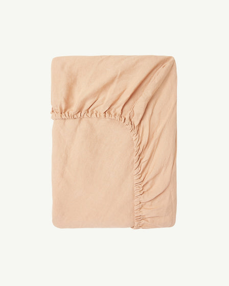 FITTED COT SHEET - BISCUIT