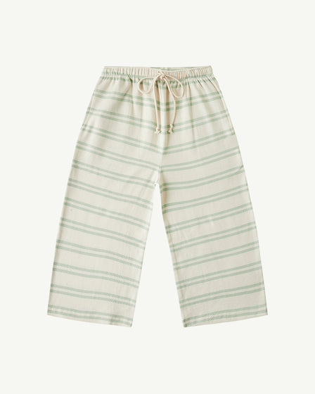 WIDE-LEG PANT - SOFT AQUA STRIPE