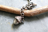 Sterling Silver Acorn Charm Bracelet -from Capital City Crafts