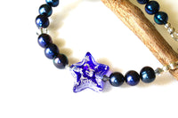 Blue Pearl and Star Toggle Bracelet -from Capital City Crafts