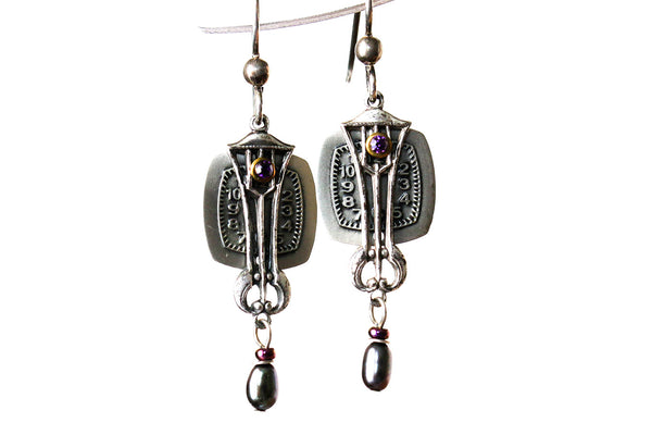 Art Deco Style Dangle Earrings On Sale -from Capital City Crafts