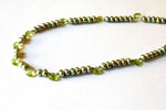Green Peridot and Freshwater Pearl Minimalist Necklace -from Capital City Crafts