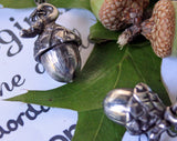 Tiny Sterling Silver Acorn Charm Handmade Pendant Necklace -from Capital City Crafts
