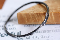 Sterling Silver Twig Woodlands Bangle Bracelet -from Capital City Crafts