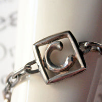 Letter C Monogram Sterling Silver Bracelet -from Capital City Crafts