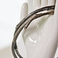 Rustic Twig Golden Brass Bangle Bracelet -from Capital City Crafts