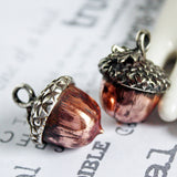 Handmade Acorn Pendant in Copper and Sterling Silver -from Capital City Crafts