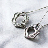 Modern Abstract Design Sterling Silver Earrings -from Capital City Crafts