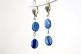 Basic Blue Kyanite Ovals Drop Earrings -from Capital City Crafts