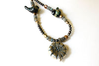 Lampwork Birds and Silver Flower Necklace -from Capital City Crafts