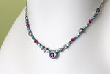 Micro Beaded Amethyst Crystal Choker -from Capital City Crafts