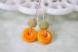 Modern Bright Sterling Silver earrings -from Capital City Crafts