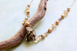 Moonstone and Pearl Silver Necklace -from Capital City Crafts