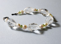 Quartz Crystal Sterling Silver Bracelet -from Capital City Crafts