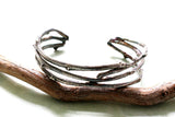 Sterling Silver Woodland Twig Cuff Unisex Bracelet -from Capital City Crafts