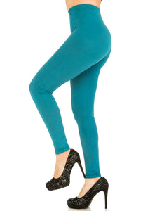 3 PCS Solid Teal Leggings Pack