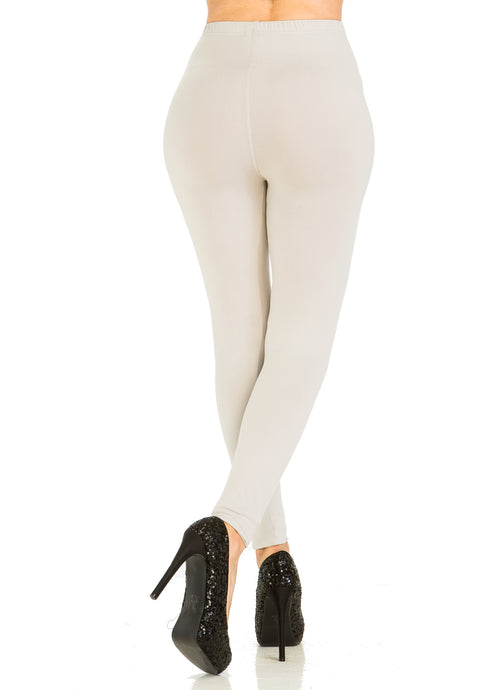 Solid Light Grey Leggings