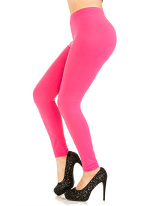 3 PCS Solid Fuchsia Leggings Pack