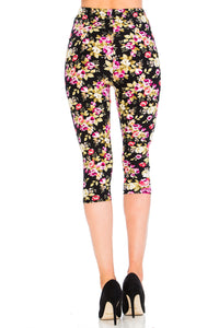 Rose Garden Capri Leggings
