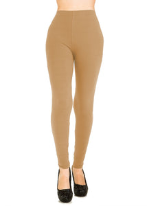 3 PCS Solid Khaki Leggings Pack