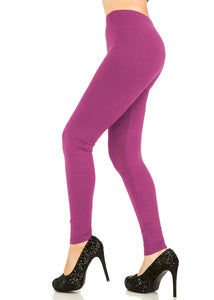 3 PCS Solid Magenta Leggings Pack