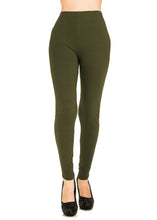 3 PCS Solid Olive Leggings Pack