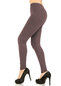 Solid Rosy Brown Leggings