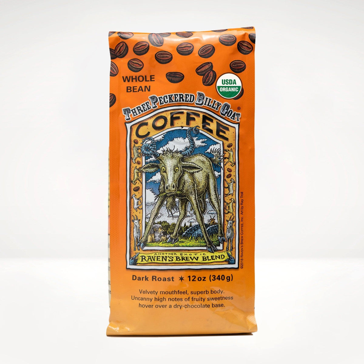 12oz Organic Three Peckered Billy Goat® Coffee